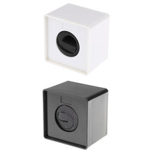 2pieces ABS Mic Microphone Interview Speech Square Cube Flag Station Black+ White(China)