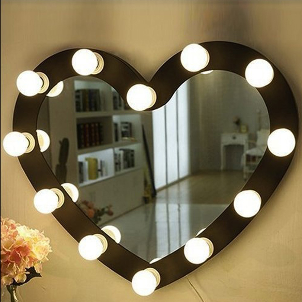 Professional Vanity Mirror Lights Table Set 10Bulb Beauty Dressing Room Mirror Lights Kit 2A LED Bulb Glamour Makeup Light