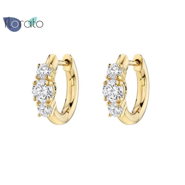 Requintado bonito huggies hoop brincos 925 prata esterlina cz espumante diamante jóias de luxo pequenos brincos para festa feminina 2