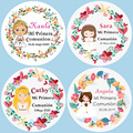 100PCS, communion baptism for girls, my first communion sticker label, custom add your name and date, custom sticker baby shower