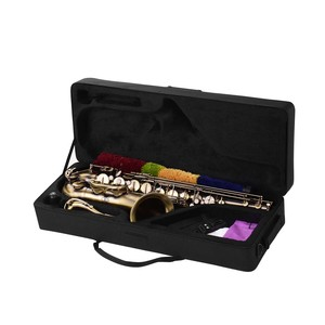Image 5 - Muslady Antique Finish Bb Tenor Saxophone Sax Brass Body White Shell Keys Woodwind Instrument with Carry Case Sax Neck Straps