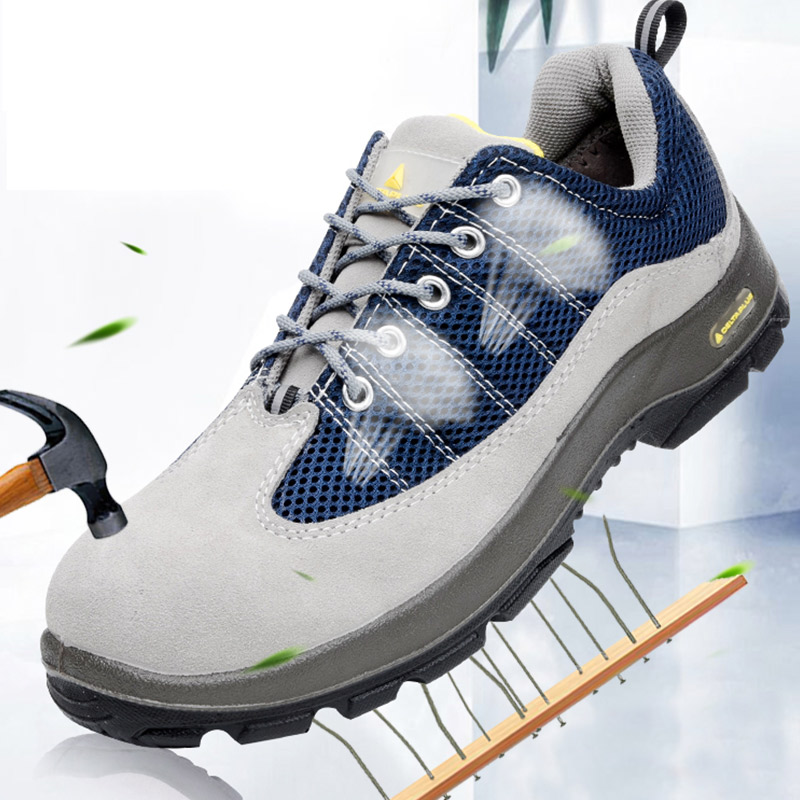 Deltaplus Safety Shoes Steel Toe Cap Puncture-proof Summer Breathable Labor Shoe Boots Non-slip Wear-resistant Working Shoes