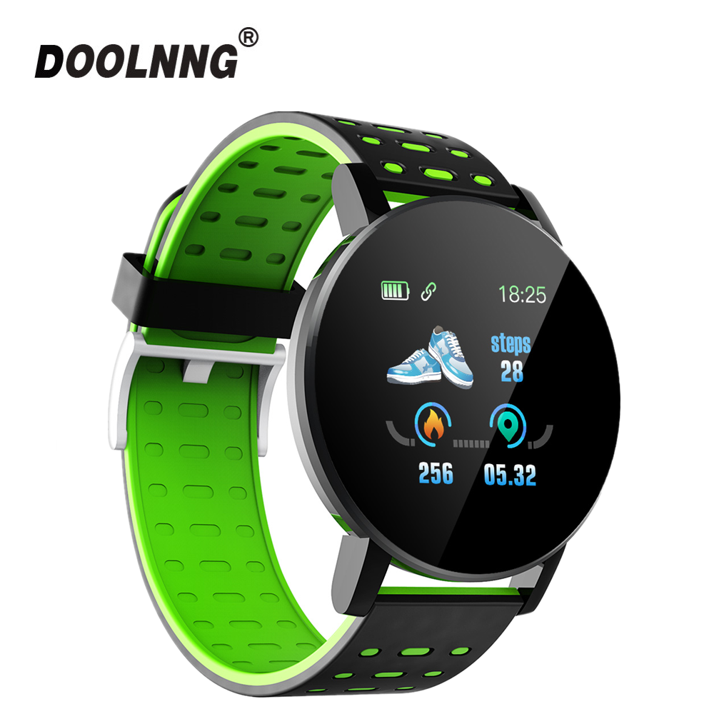 DOOLNNG 119Plus 2019 Bluetooth <font><b>Smart</b></font> <font><b>Watch</b></font> Men Blood Pressure Smartwatch Women <font><b>Watch</b></font> Sport Tracker WhatsApp For Android Ios image