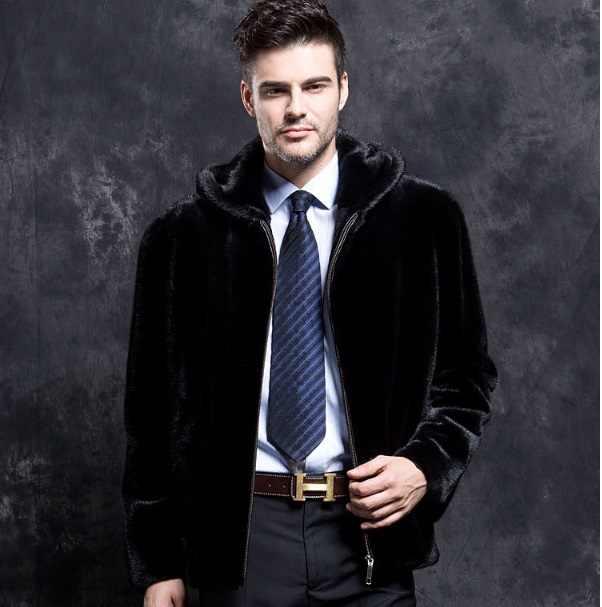 Пушистые мужские пальто из искусственного меха с длинными рукавами, утепленная меховая верхняя одежда с капюшоном, 2019 зимние короткие куртки, черная норковая шуба XL713