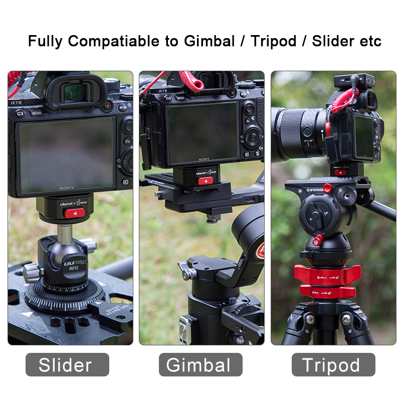 Ulanzi Claw Quick Release Plate Clamp Quick Instal System DSLR Gopro Action Camera Shoulder Strap Belt Clamp Quick Switch Kit