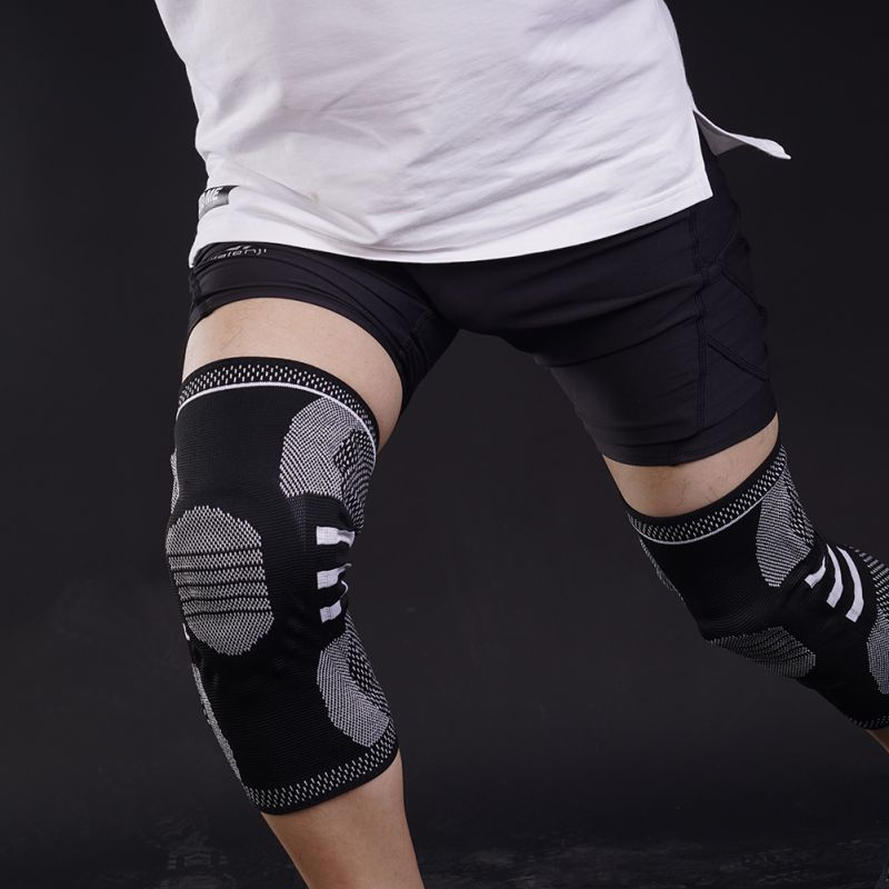 Silicone Anti-collision Sports Knee Pads Spring Support Full Knee Support With Bone Inner Support Fitness Protective Gear I