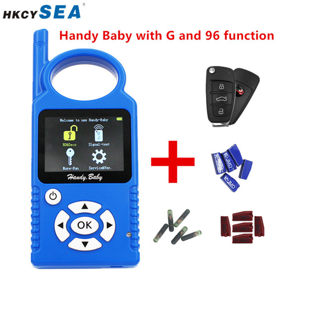 JMD Handy Baby Hand Held Car Remotes Copier Auto Key Programmer V9.0.5 for 4D/46/48/G/KING/Red Chip+Super Remote G/96 Function