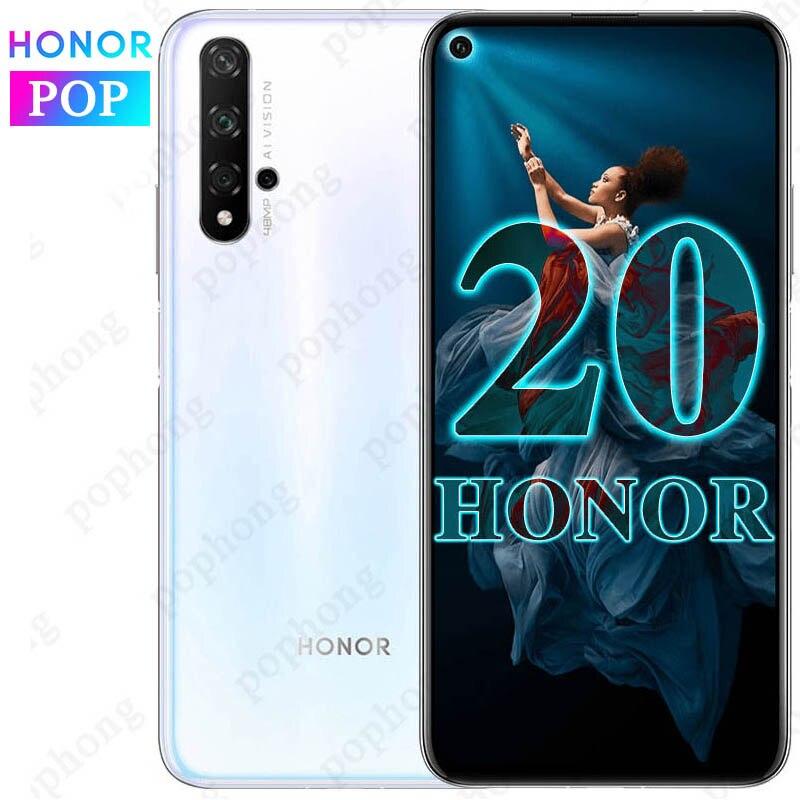 Original HONOR 20 Mobile Phone 6.26 Inch Kirin 980 Octa Core 8GB 128GB/256GB Capacitive Screen 3750mAh SuperCharge NFC