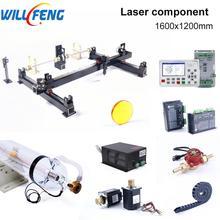 윌 펭 1600x1200mm 100w 레이저 기계 세트 컨트롤러 awc708s 모터 diy 조립 cnc 이산화탄소 레이저 커터 조각 기계
