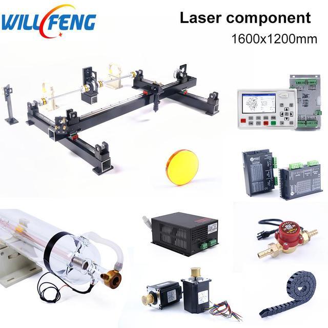 Will Feng 1600x1200mm 100w Laser Mechanical Set Controller AWC708S Motor DIY Assemble CNC Co2 Laser Cutter Engraving Machine