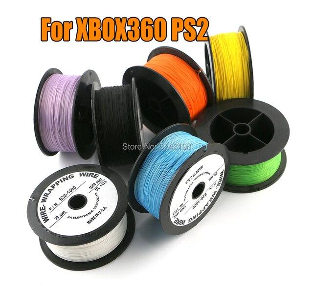 OK line P/N B30 1000 FEEP UL1423AWM 30AWG UL1423 305 متر 1000ft الفضة مطلي سلك التفاف كابل ل xbox 360