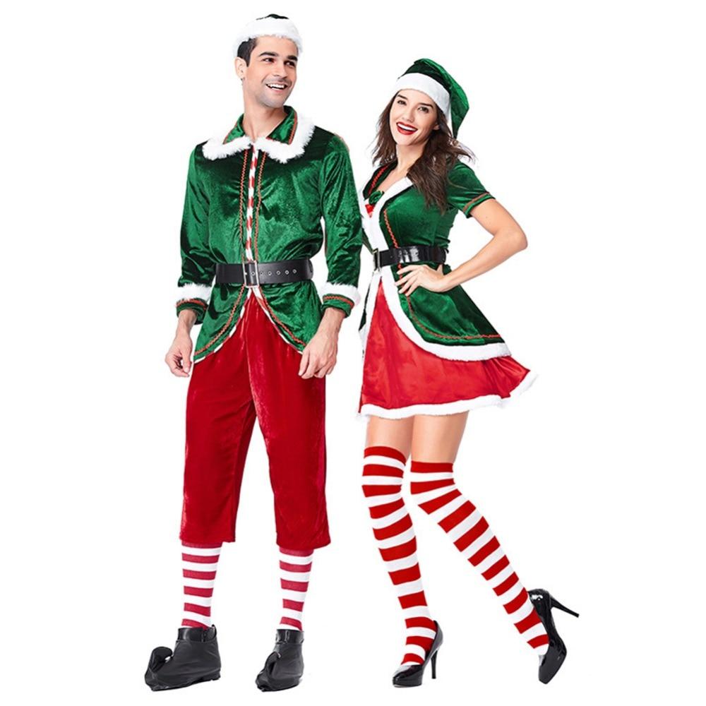 Noël Adulte Elf Costume Tenue Déguisement Femelle ou Mâle NOUVEAU Xmas Party