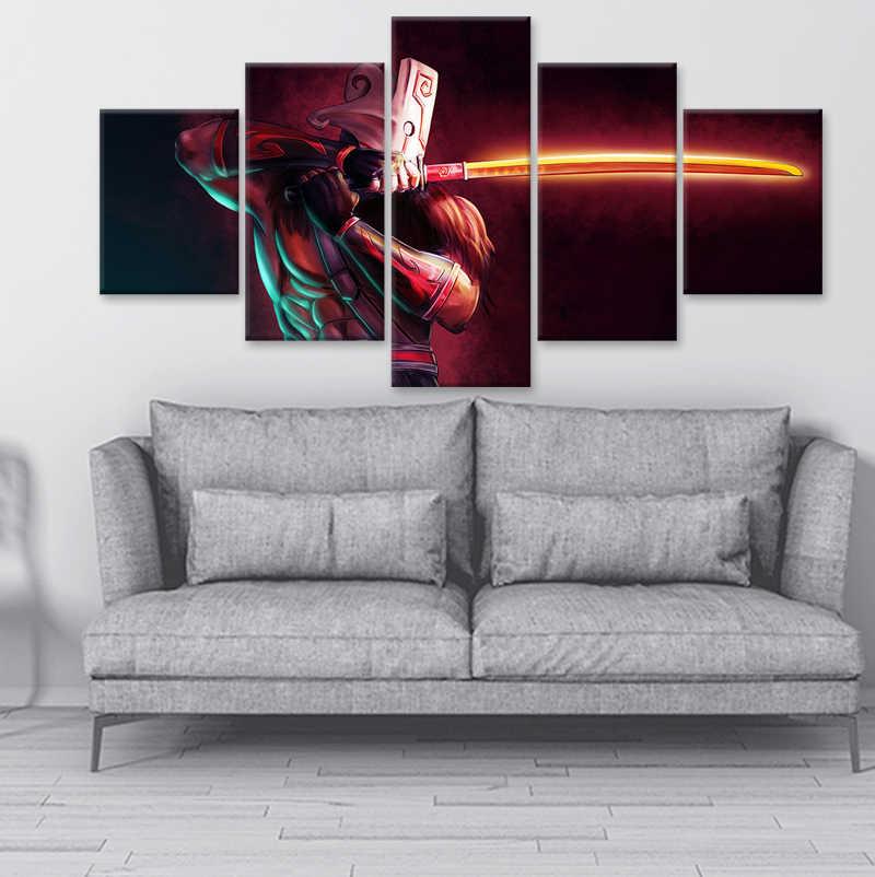 Современная Модульная Картина на холсте игровой постер 5 шт. 2 DotA Juggernaut настенное искусство домашний декор для мальчиков комната печатное изображение с высокми разрешениемиз искусства