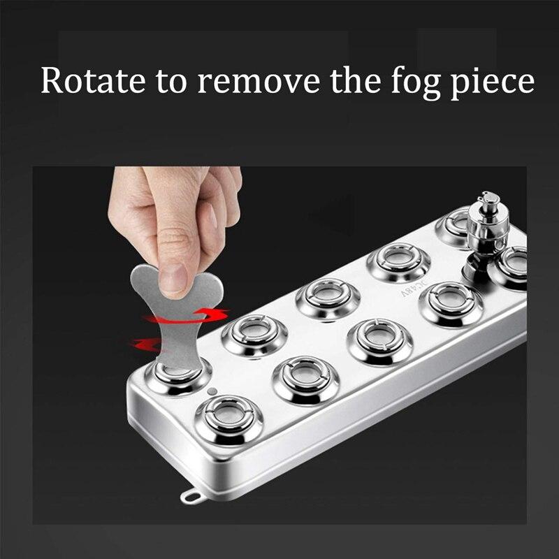 Nebel Maker Fogger 10 Kopf Ultraschall Nebel luftbefeuchter für Industrielle Scenic Hydrokultur Garten Rasen Teich - 6