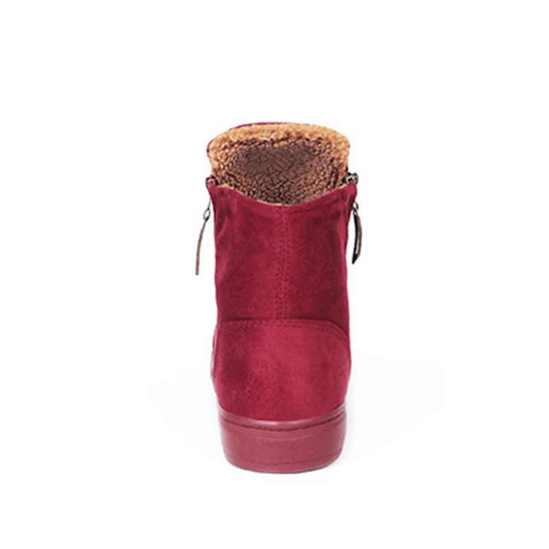 Yeni 2019 Kış Ayakkabı Kadın Kar Botları Sıcak Peluş Soğuk Kış Moda kadın Çizmeler Bayanlar Marka Ayak Bileği Botas ZH2397
