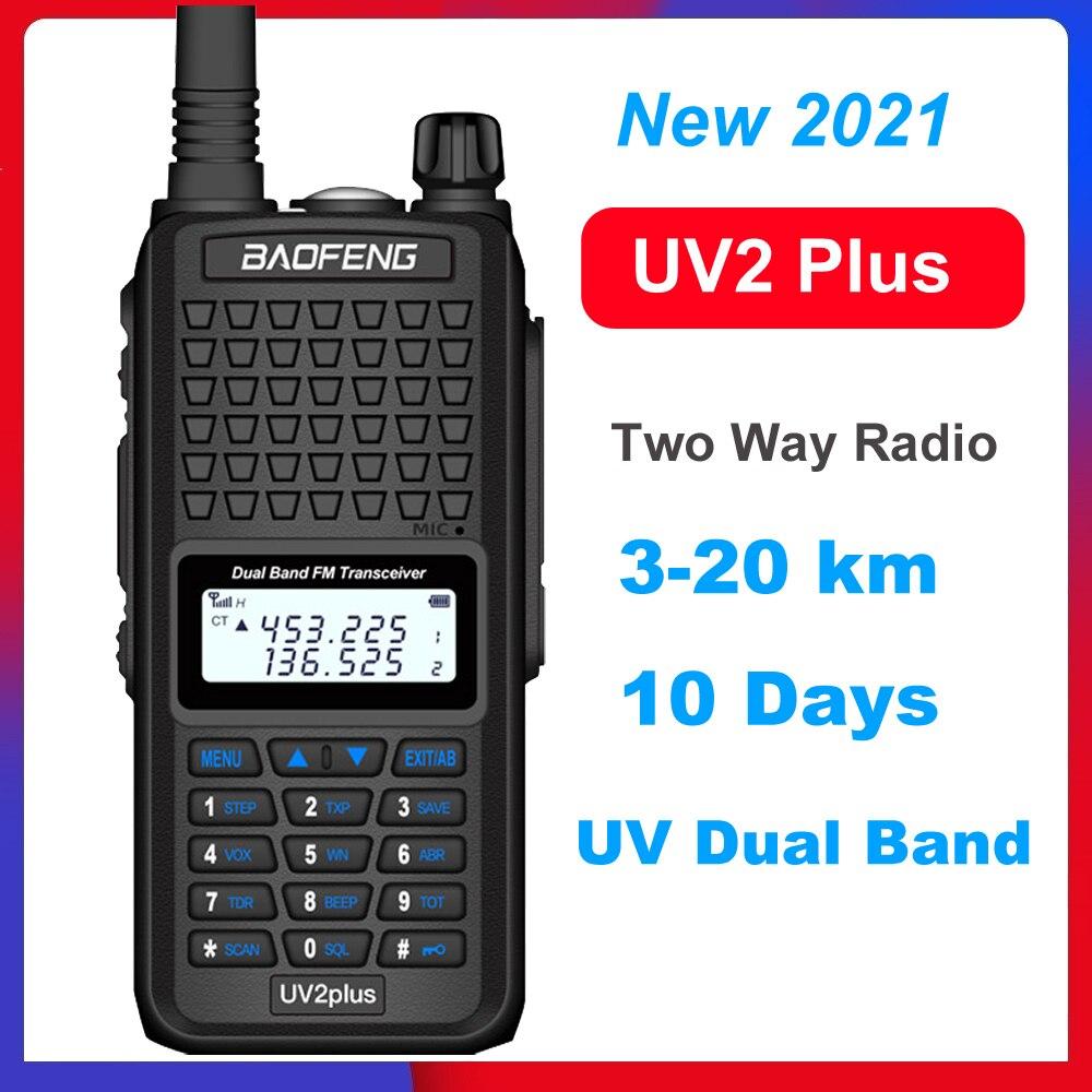 Baofeng UV2Plus Walkie Talkie Lange Afstand High Power Twee Manier Radio Baofeng UV2 Plus Vhf Uhf Ham Cb Lange Afstand radio Station