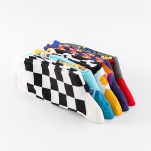 Image 5 - Nieuwe 2019 Kleurrijke Katoenen Mannen Lange Sokken Harajuku Hip Hop Grappige Gepocheerd Ei Magic Cube Cool Jurk Sokken Voor mannelijke Huwelijksgeschenken
