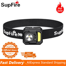 Supfire HL19 MINI linterna frontal LED mejor para Camping bicicleta pesca, USB recargable deportes correr potente faro