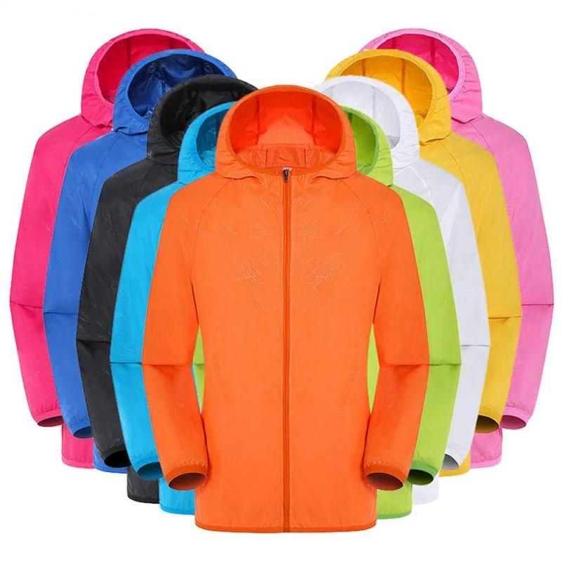 Cycling Hooded Jacket Ultralight Coat Outdoor  Hiking Windbreaker Reflective Top
