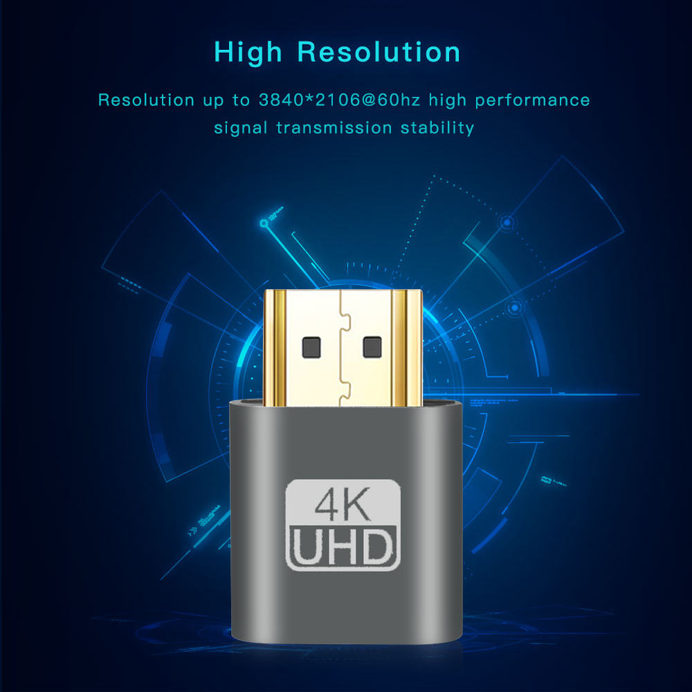 Image 4 - Kebidu 2018 HOT SALE VGA Virtual Plug HDMI Dummy Adapter Virtual Display Emulator Adapter DDC Edid Support 1920x1080P For Video-in Computer Cables & Connectors from Computer & Office