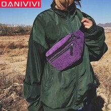 Waist-Bag Fanny-Pack Street-Sport Casuale Fashion Women's Boy Girl Unisex Zipper