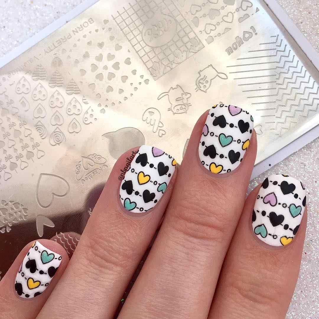 Lahir Cantik Nail Art Stamping Template Bunga Geometri Hewan Stainless Steel Stensil Gambar Desain Kuku Manikur