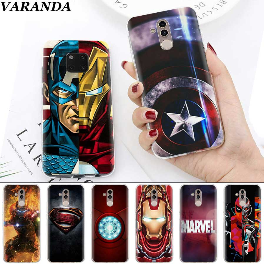 Marvel Ironman Batman Heroes Case for Huawei Mate 30 20 10 Lite Nova 5 5i Honor 20 Pro 8X Silicone Cover Phone Fundas Capa image