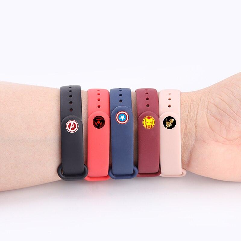 Для Xiaomi Mi Band 4/3 ремешок Металлическая пряжка силиконовый браслет аксессуары miband 3 браслет Miband 4 ремешок для часов М