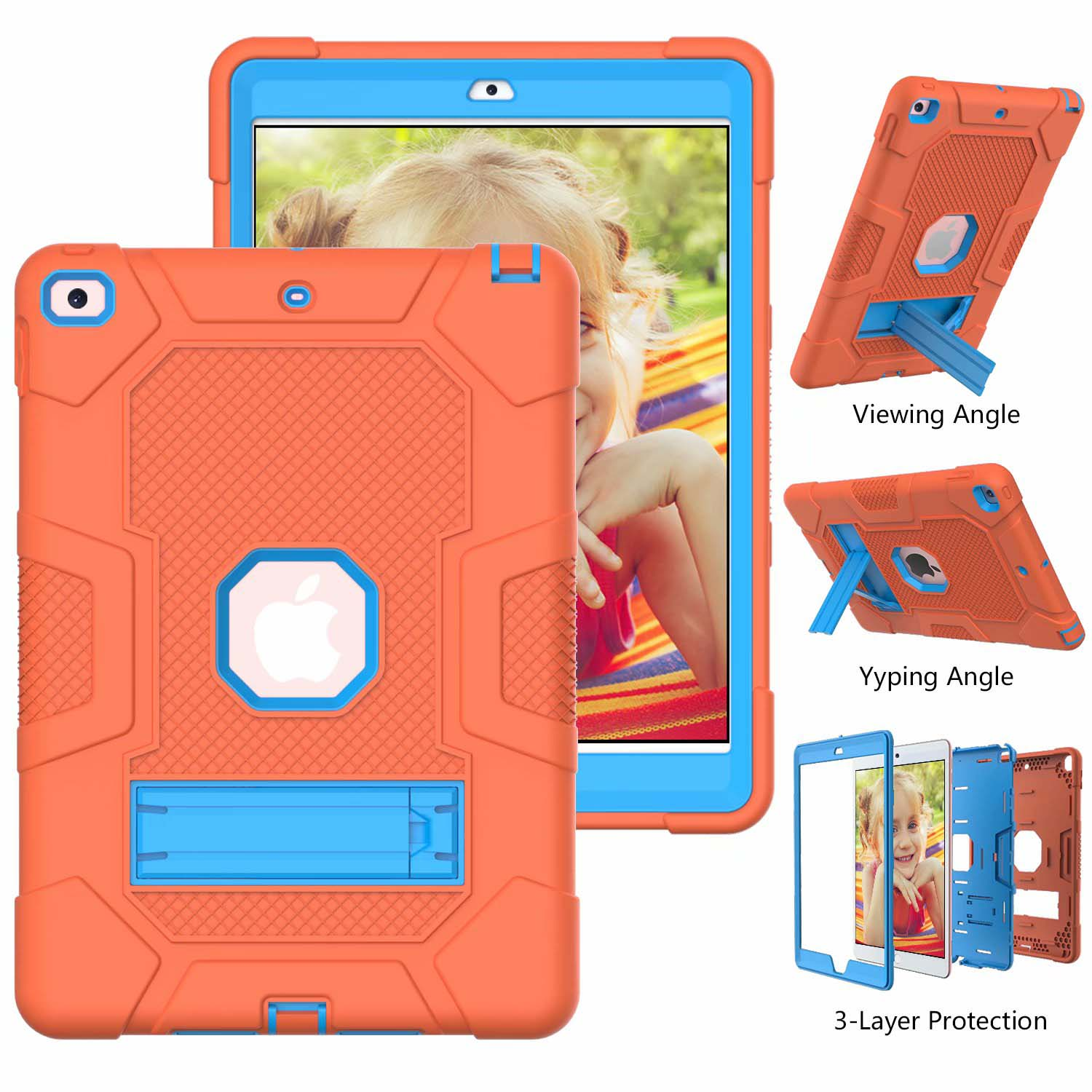 1 White Shockproof Case for iPad 8th 7th Generation 10 2 Hybrid Armor Heavy Duty Hard PC Rugged