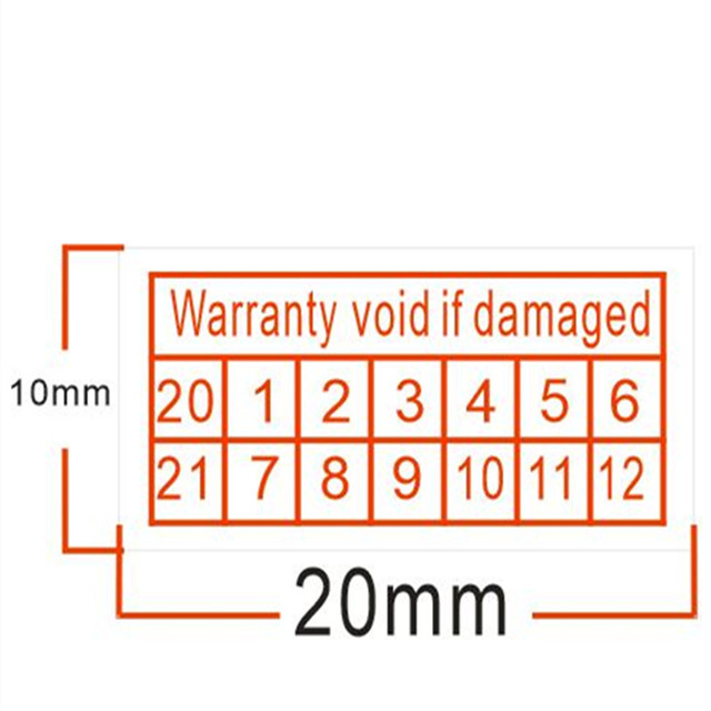 200X 2018-2020 Warranty Void If Damaged Protection Security Labels Stickers S G4