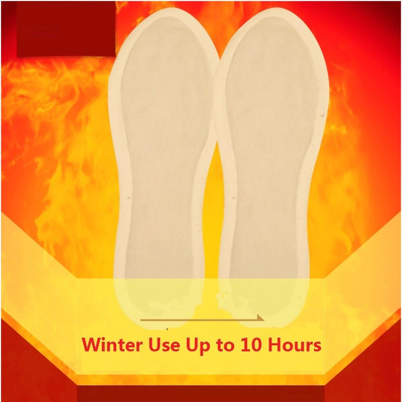 1Pair Warm Reflexology Insoles Natural Tourmaline Self-heating Insoles Winter Soles For Footwear Heated Self-heating Insoles