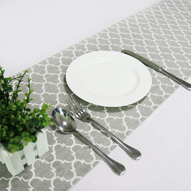 New High-end Tablecloth Flag Nordic Style Geometric Table Runner Shoes Cabinet Cover Cloth Linen Bed Runner Gray Table Cloth