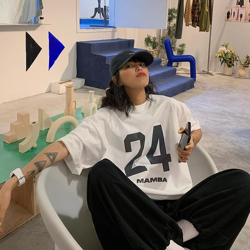 tshirt Reflective female Korean loose street hip-hop  t-shirt students half-sleeved shirt summer harajuku tops ropa mujer new