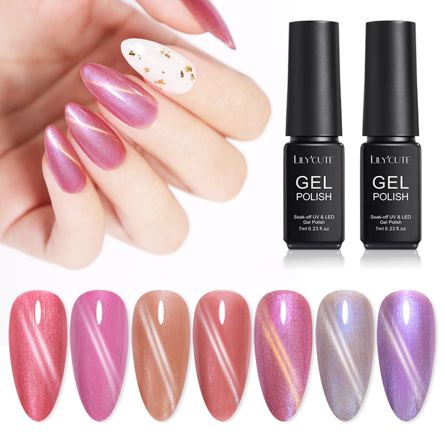 LILYCUTE 7ml Cat Eye Nail Gel