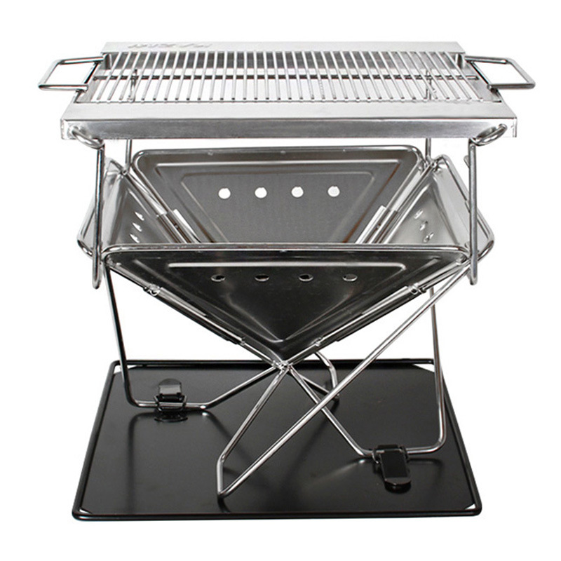 Barbecue-Tool Outdoor Picnic Camping Grill BBQ Folding Stainless-Steel Portable