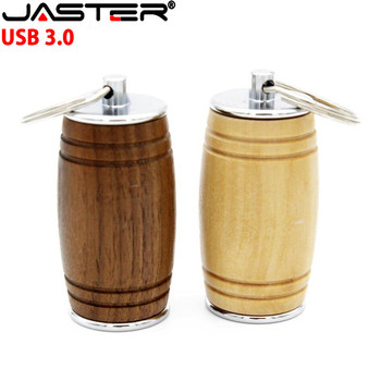 JASTER new style usb3.0 Maple Barrel spoon pendrive 4GB 8GB 16GB 32GB maple usb 3.0 wooden LOGO engrave usb flash drive