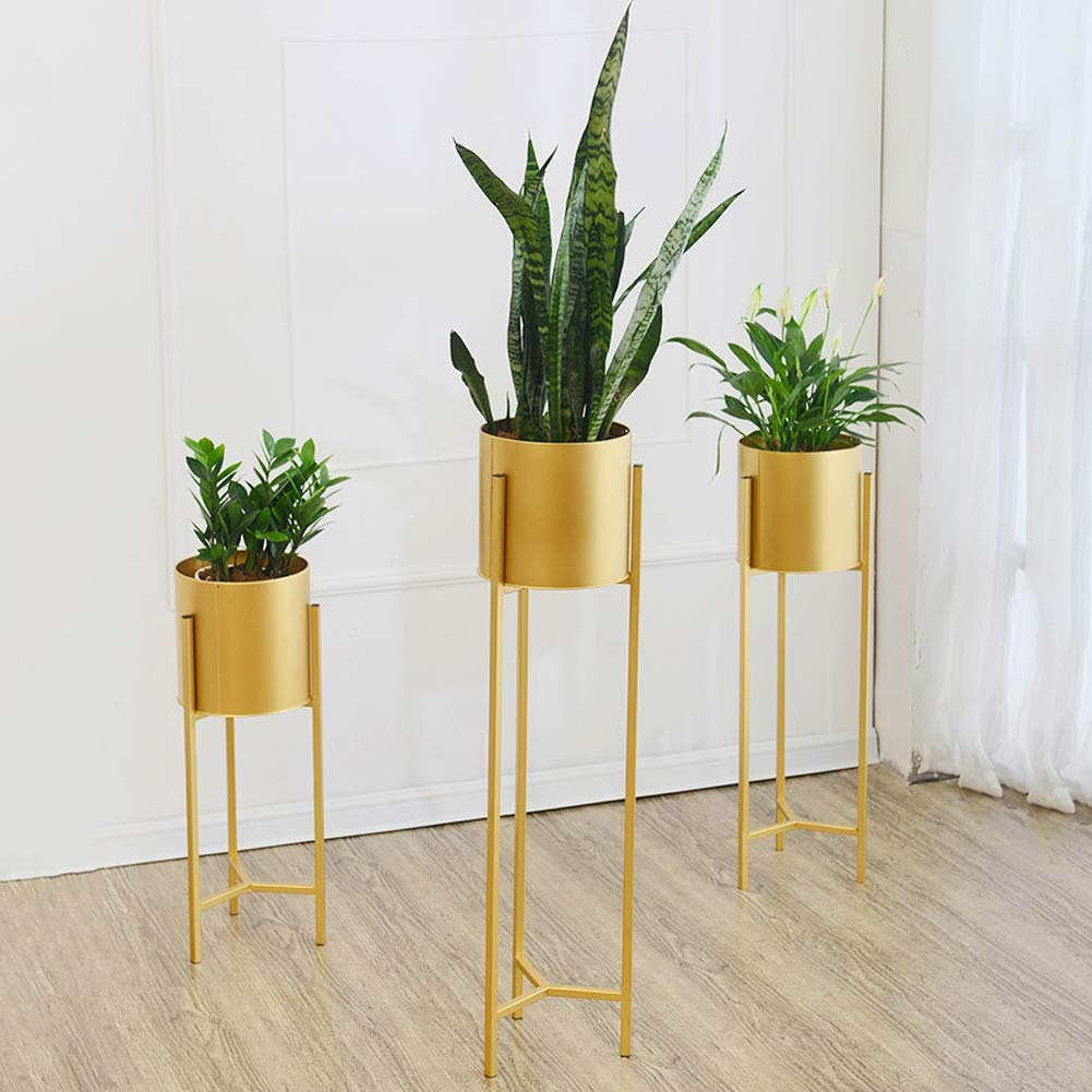 Black Metal Plant Stand With Planter