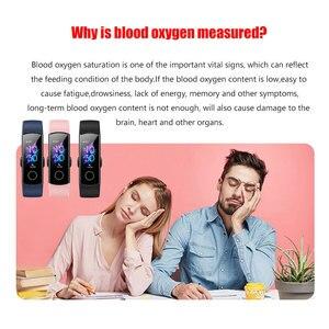 Image 5 - כבוד להקת 5 NFC צמיד חכם דם חמצן מרובה חוגות פעילות קצב לב כושר שינה Tracker Passometer גלובלי גרסה