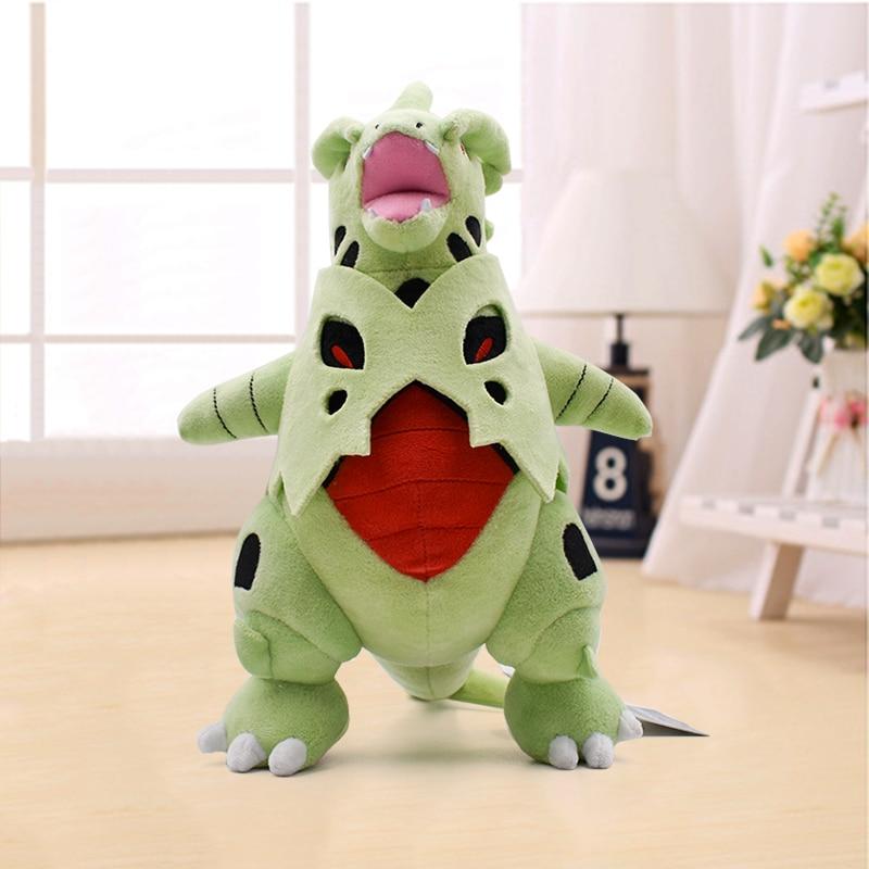 Wholesale Price 35cm Mega Tyranitar Stuffed Animal Plush Doll Anime Cartoon Plush Toys Children Christmas Great Gift Retail