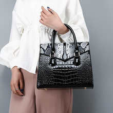 fashion snake women handbags designer serpentine shoulder messenger bag luxury alligator pu leather crossbody large purses