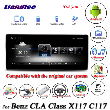 Car GPS Navigation Multimedia Player For Mercedes Benz CLA Class X117 C117 Android Screen Auto Carplay Radio Stereo Androidauto image