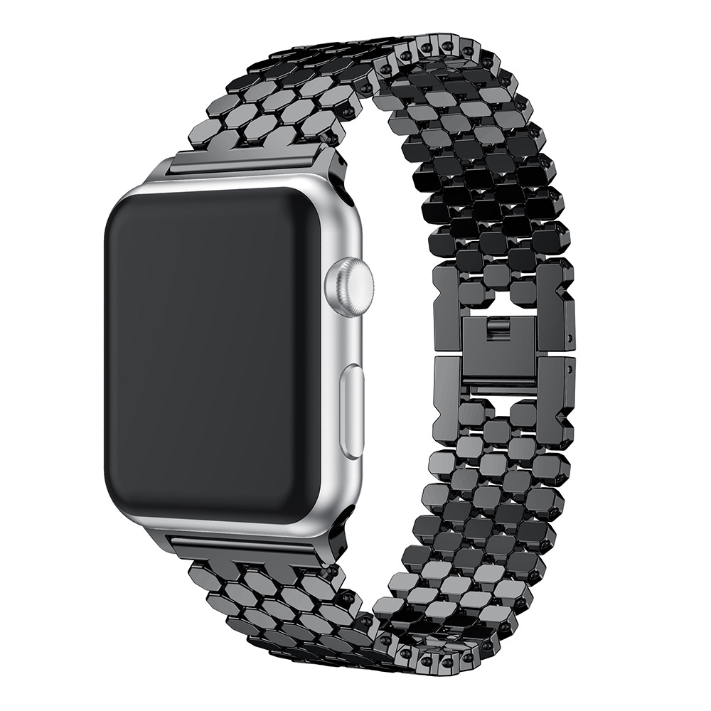 Band For Apple Watch Band 38mm 42mm Stainless Steel Strap For Iwatch Band Series 1 2 3 4 40mm 44mm Watchband Bracelet Round Bead