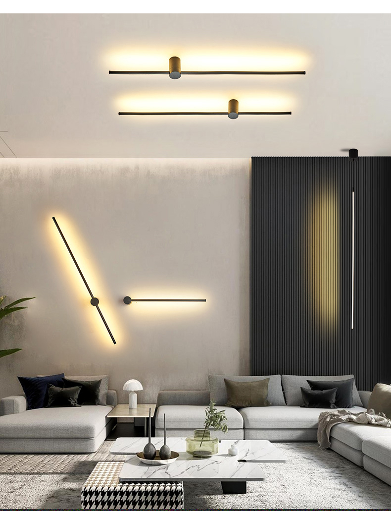 Picture of: 2020 Modern Led Wall Lamp Long Hanging Lights Simple Nordic Living Room Sofa Background Wall Light Bedroom Bedside Floor Lamp From Hongheyu 23 37 Dhgate Com
