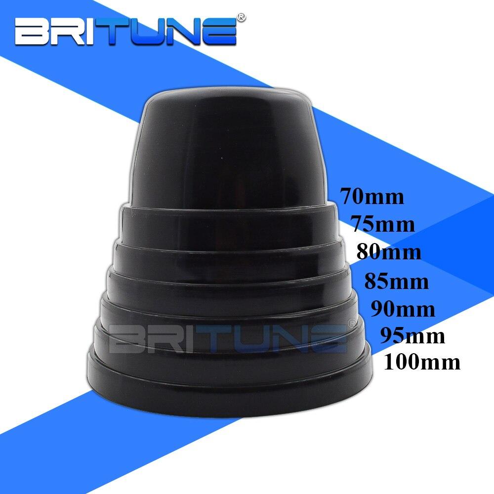 britune capa poeira retrofit tampas de vedacao universal a prova dwaterproof agua para lentes do farol