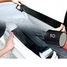 Наклейка на бампер для автомобильной двери из углеродного волокна