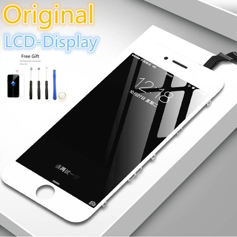 Оригинальный качественный Восстановленный ЖК-дисплей для iPhone 6 6s 7 Plus 5S SE Черный Белый сенсорный экран в сборе для замены с инструментами