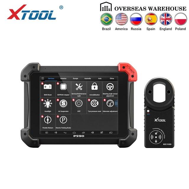 XTOOL herramienta de diagnóstico automotriz PS90 OBD2 para coche, con programador de llaves, Correctio odómetro, EPS, compatible con varios modelos de coche con Wifi/BT
