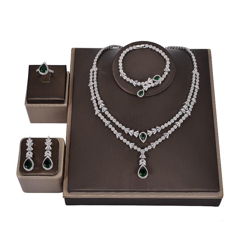 Image 4 - Jewelry Set HADIYANA Fashion Gorgeous Necklace Earrings Ring  Bracelet Set For Women Party Gift Wedding CNY0055 Femme JewelryJewelry  Sets
