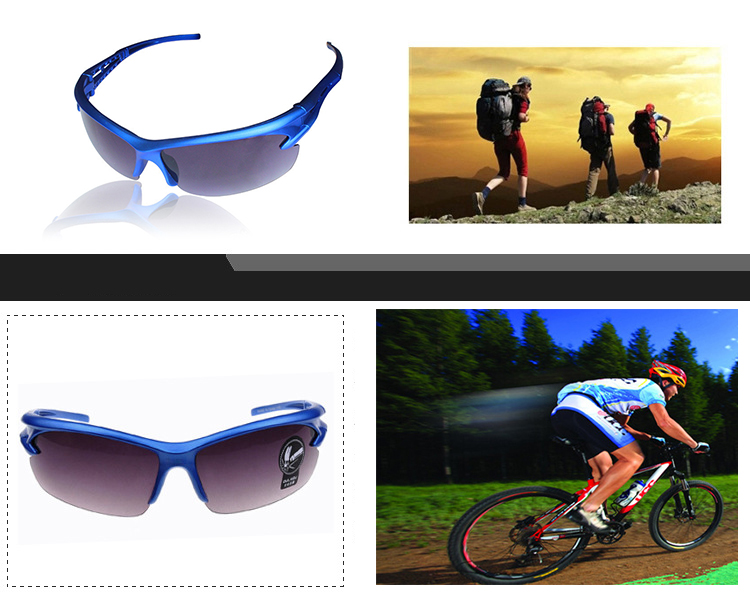 Polarized Outdoor Sports Bicycle Riding Sunglasses PC Explosion-proof Travel Sunglasses 25g Anti-UV Cycling Goggles Eyewear