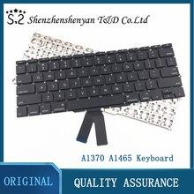 Клавиатура A1370 A1465 для Macbook Air, французская/немецкая/итальянская/испанская/Русская/Корейская/английская клавиатура, 11 дюймов, MC968 2011 2015 лет